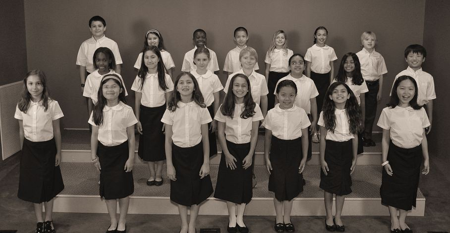 Spring 2013 Training Choir of boys and girls
